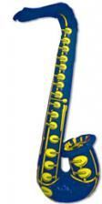 Inflatable Saxophone Blue