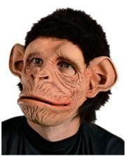 Schimpansen Maske mit Kunstfell