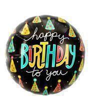 Happy Birthday Partyhütchen Folienballon