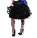 Petticoat with ruffles black