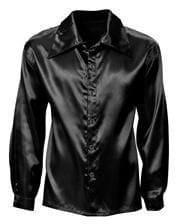 70s Disco Hemd schwarz