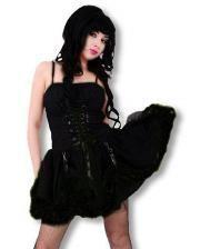 Black Gothic Punk Minidress L