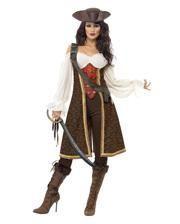 Sexy Piratenkapitänin Damenkostüm