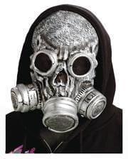 Zombie Gasmaske silber