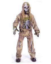 Skeleton Zombie Deluxe Kinderkostüm S