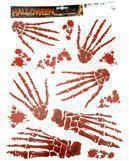 Knochenfinger Aufkleber Set