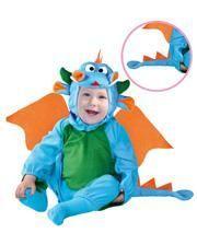 Blauer Drache Babykostüm