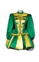 Carnival Dancing Girl Dress Green Yellow