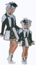 Carnival Dancing Girl Costume Black