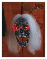 Hairy Skull with LED Eyes