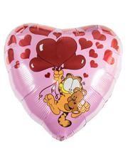 Valentin Folienballon mit Garfield