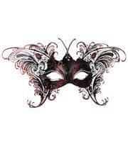 Schmetterlingsmaske Schwarz-Rot