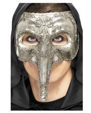 Venezia Schnabelmaske silber