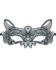 Venetian mask fabric cat