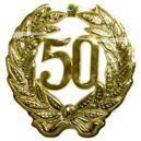 Wanddeko Anniversary 50 gold