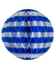 Wabenball Streifen weiß-blau