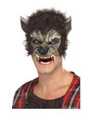 Werwolf Halbmaske mit Fell