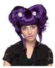 Damenperücke Yuki violet