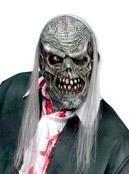 Zombie Maske grau