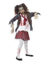 Zombie Schuluniform Mädchenkostüm