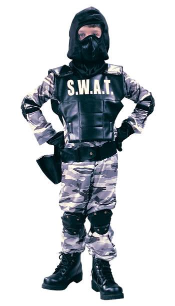 swat polizei kinderkostüm gr l  kinderkostüme  karneval