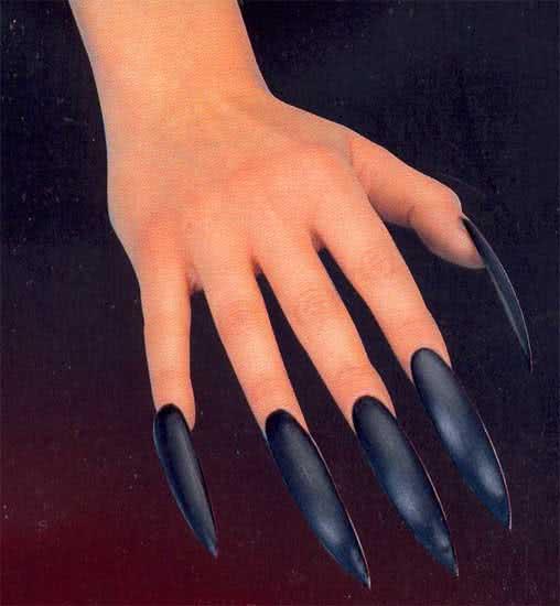 hexen fingern gel schwarz selbstklebend schwarze lange hexenfingern gel karneval universe. Black Bedroom Furniture Sets. Home Design Ideas