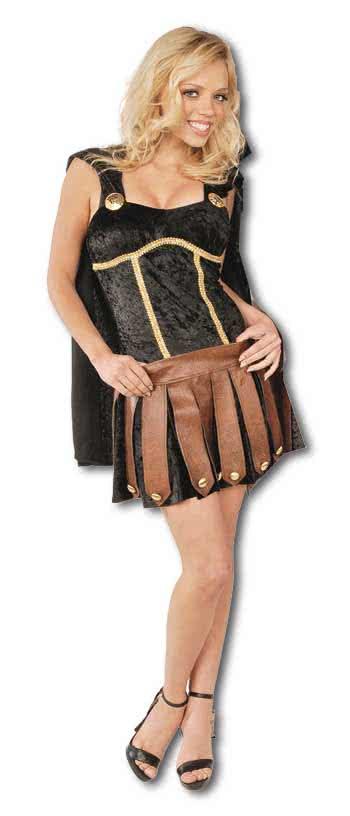 sexy gladiatorin kost m schwarz gr l 40 r merin amazone. Black Bedroom Furniture Sets. Home Design Ideas