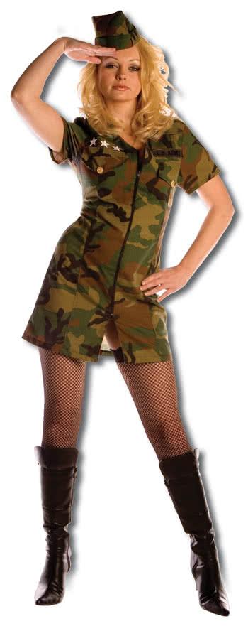 scharfes army girl premium kost m gr s karneval universe. Black Bedroom Furniture Sets. Home Design Ideas