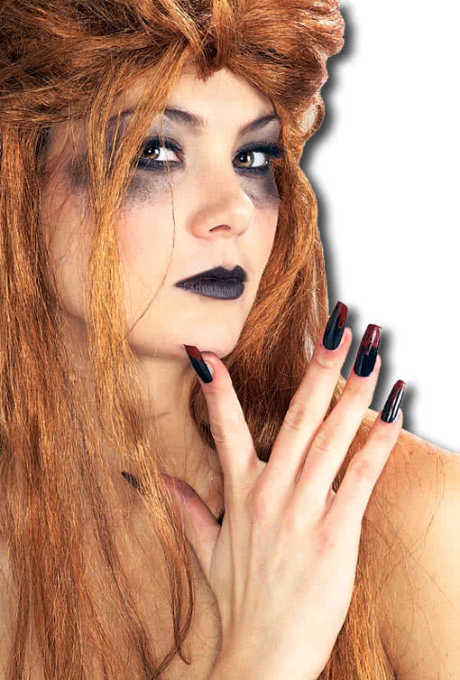 fingern gel schwarz blutig halloween fingern gel. Black Bedroom Furniture Sets. Home Design Ideas