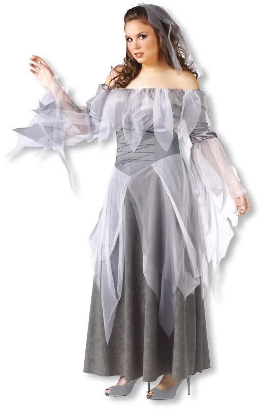 geisterfrau kost m xl geisterfrau xxl kost me vampirbraut karneval universe. Black Bedroom Furniture Sets. Home Design Ideas