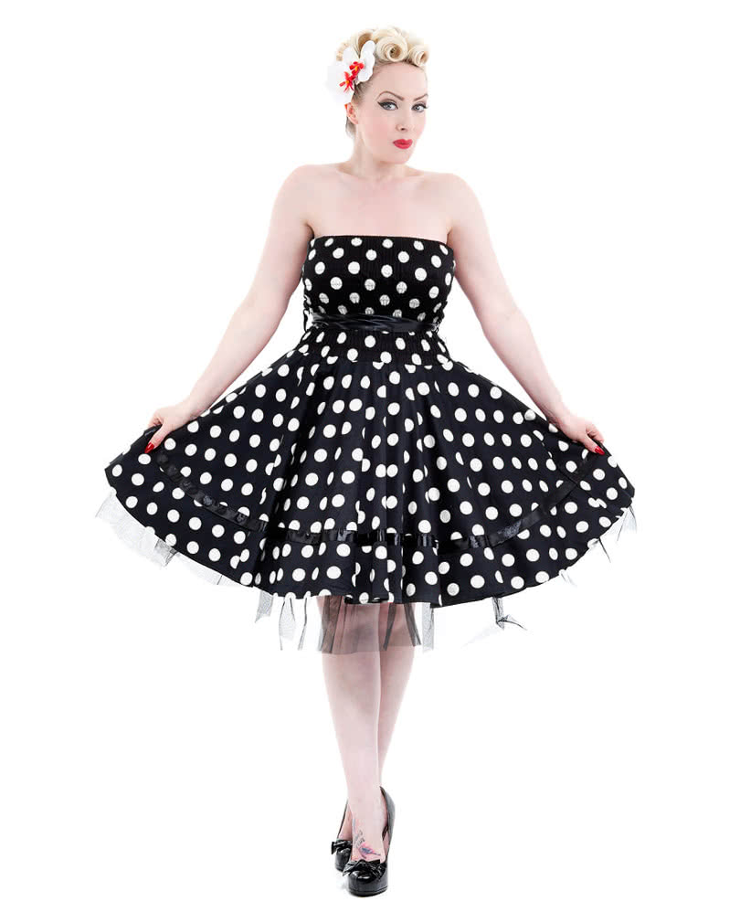 polka dot petticoat kleid 50er jahre mode rockabilly kleid karneval universe. Black Bedroom Furniture Sets. Home Design Ideas