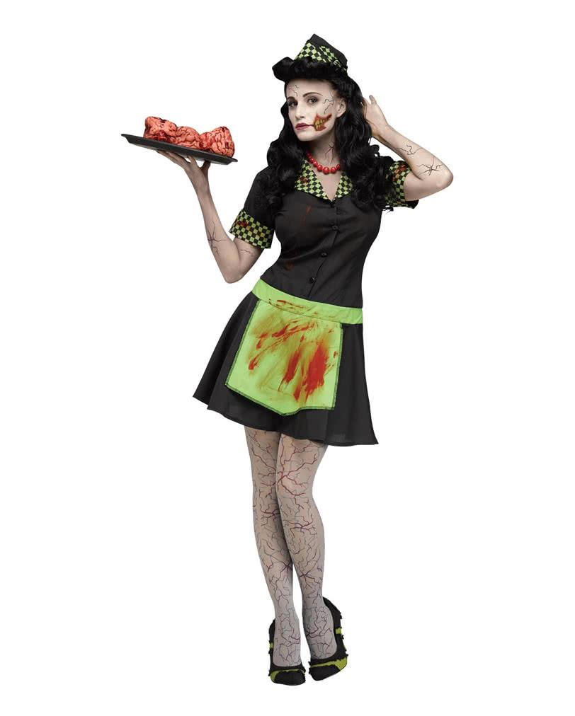 zombie diner kellnerin kost m im 50er jahre stil f r fasching karneval universe. Black Bedroom Furniture Sets. Home Design Ideas