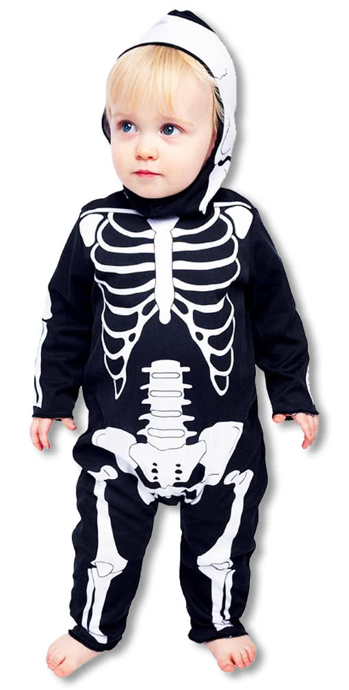 baby anzug skelett horror strampler babys skelett kost m knochen kost m karneval universe. Black Bedroom Furniture Sets. Home Design Ideas