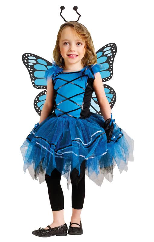 ballerina falter kleinkinderkost m blaues schmetterlings kost m f r m dchen karneval universe. Black Bedroom Furniture Sets. Home Design Ideas