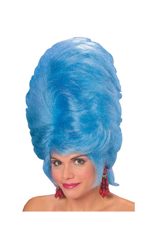 beehive damenper cke blau bestell dir die frisur die nach oben in 39 s blaue geht karneval. Black Bedroom Furniture Sets. Home Design Ideas