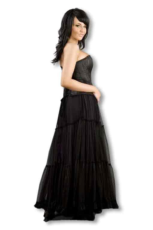 bodenlanger t llrock bodenlanger gothic petticoat t llrock karneval universe. Black Bedroom Furniture Sets. Home Design Ideas