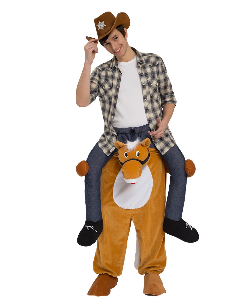 reitender cowboy carry me kost m f r fasching karneval universe. Black Bedroom Furniture Sets. Home Design Ideas