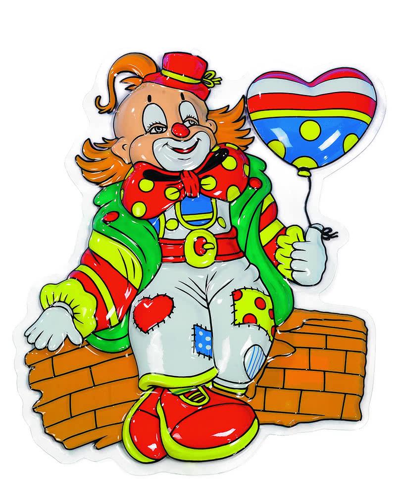 deko clown karli bunte clownsfigur karneval universe. Black Bedroom Furniture Sets. Home Design Ideas