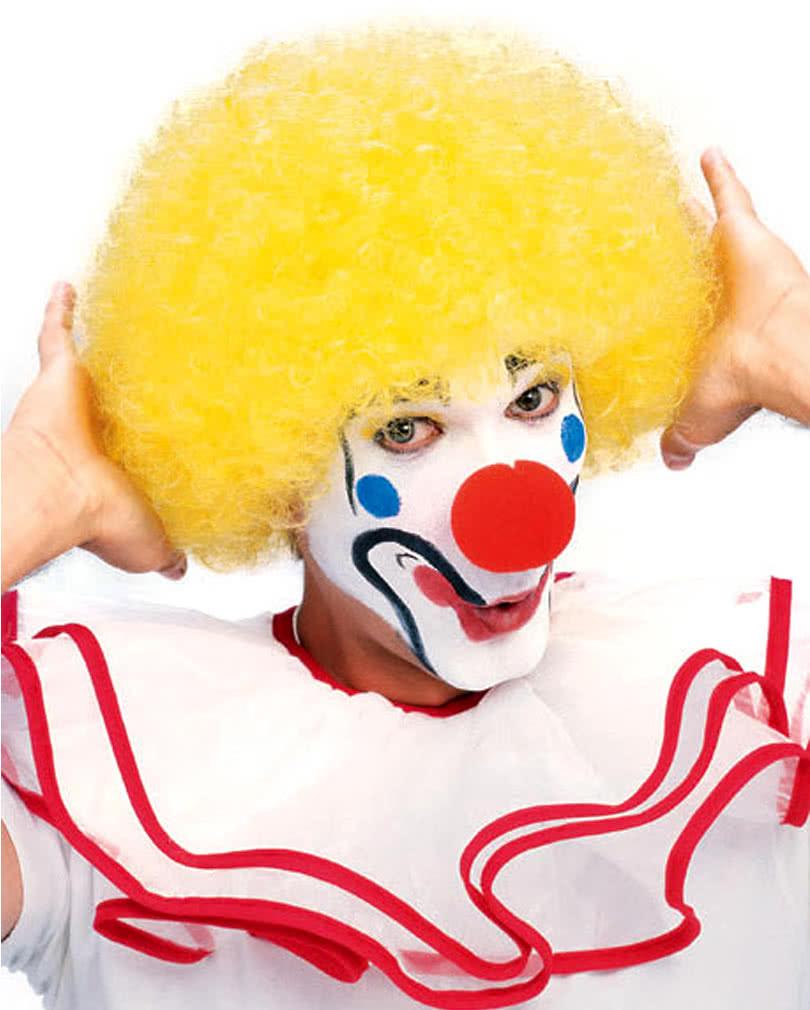 gelbe clown per cke f r originelle clownkost me karneval universe. Black Bedroom Furniture Sets. Home Design Ideas