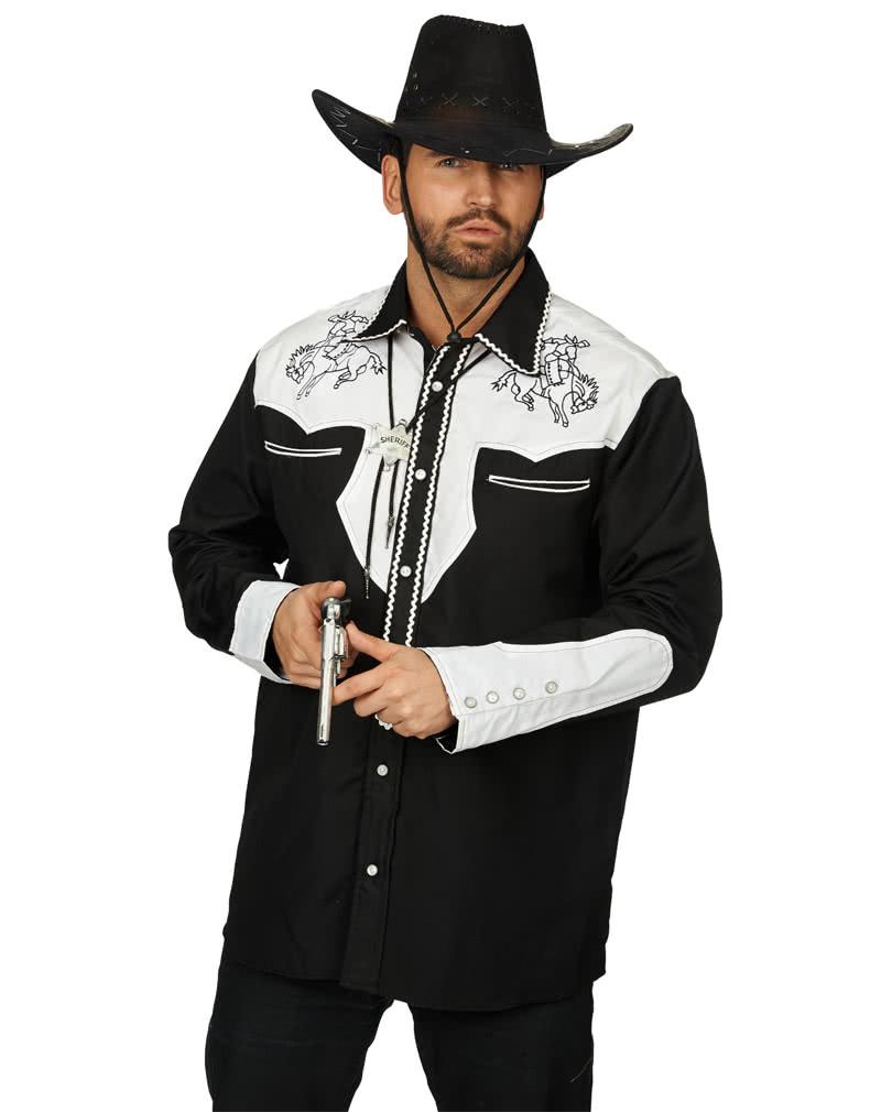 western hemd mit stickerei als rodeo cowboy kost m von. Black Bedroom Furniture Sets. Home Design Ideas
