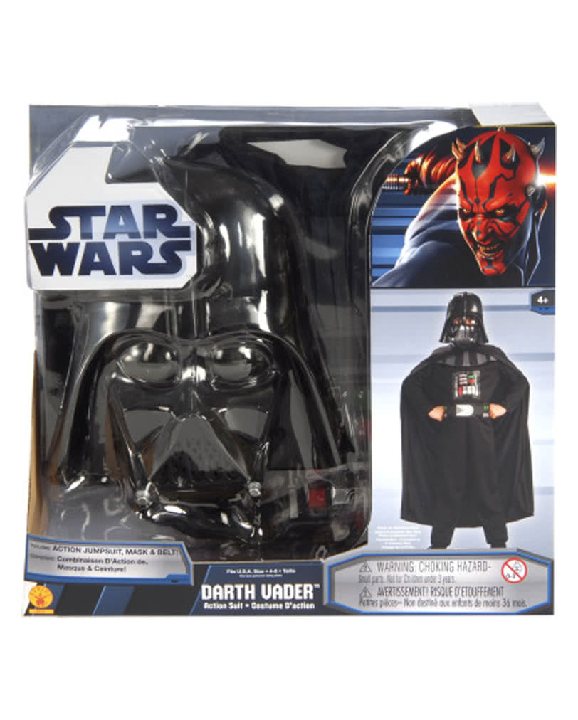 darth vader set f r kinder star wars kost m f r kleine sith lords karneval universe. Black Bedroom Furniture Sets. Home Design Ideas