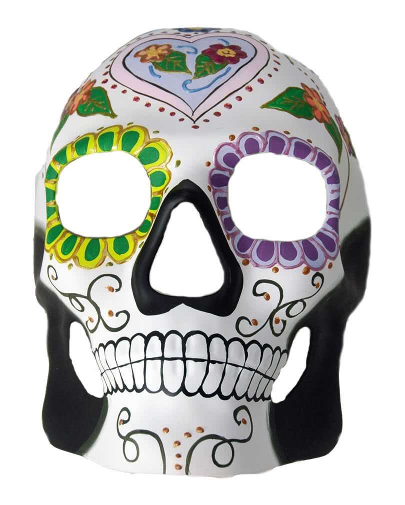 day of the dead totenkopf maske flowerheart bunte. Black Bedroom Furniture Sets. Home Design Ideas