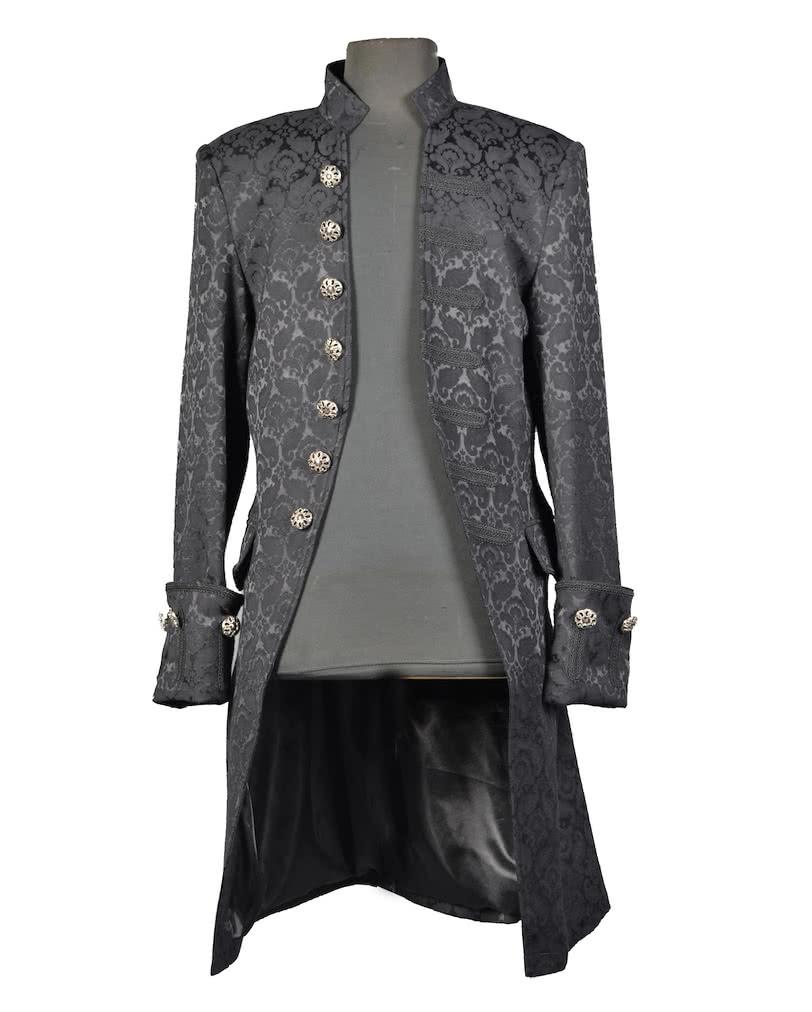 brokat m nner mantel schwarz steampunk gothicbekleidung online kaufen karneval universe. Black Bedroom Furniture Sets. Home Design Ideas