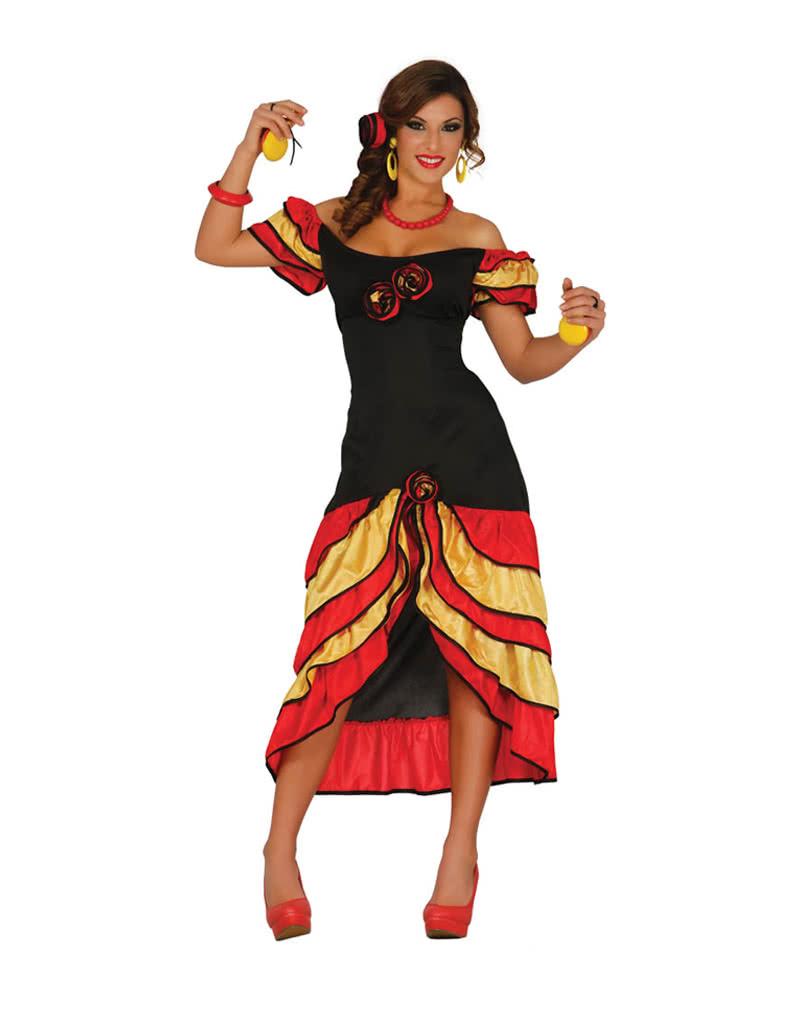 flamenco kleid andalusische t nzerin kost m karneval universe. Black Bedroom Furniture Sets. Home Design Ideas