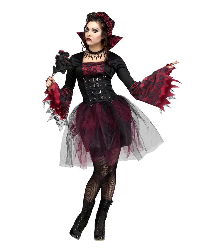 rosen vampiress kost m vampir k nigin kleid mit t ll. Black Bedroom Furniture Sets. Home Design Ideas