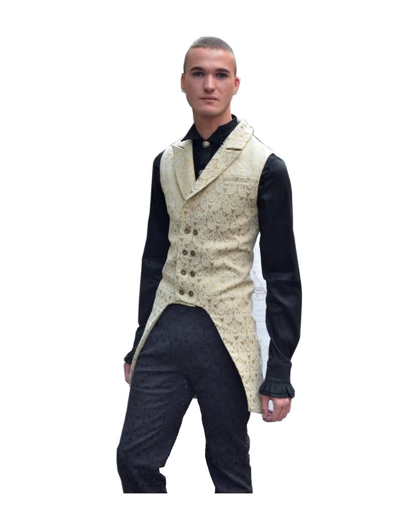 brokat m nner weste beige viktorianische kleidung online kaufen karneval universe. Black Bedroom Furniture Sets. Home Design Ideas
