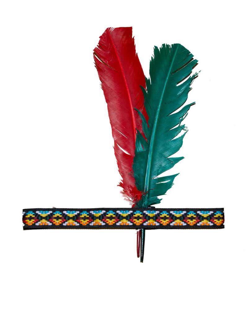 indianer kopfschmuck mit federn klassisches indianer stirnband karneval universe. Black Bedroom Furniture Sets. Home Design Ideas