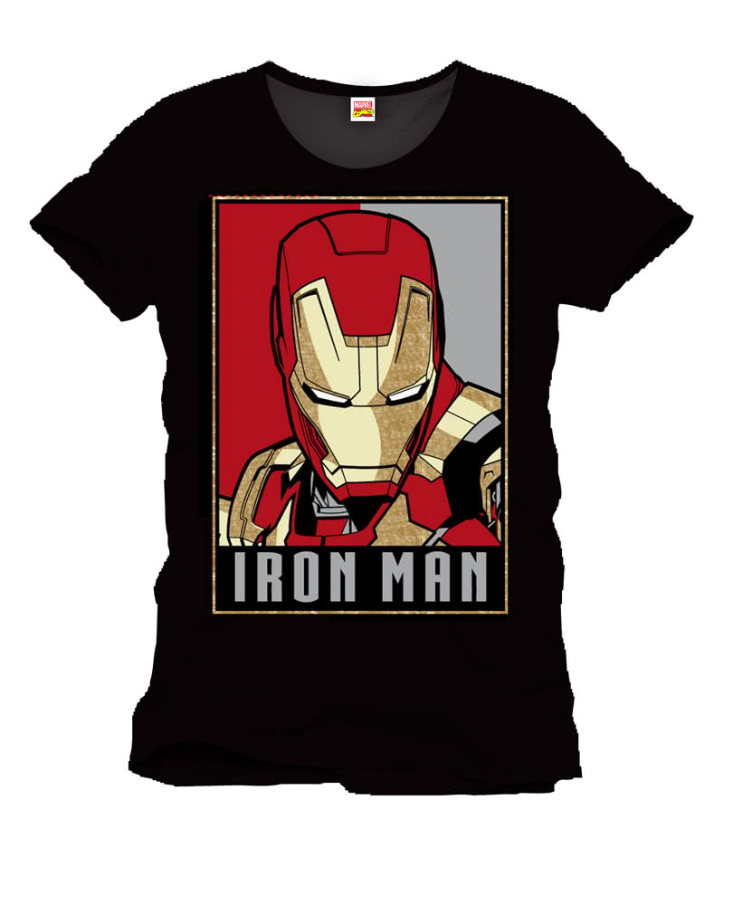 iron man lizenz t shirt l offizielles superhelden t shirt karneval universe. Black Bedroom Furniture Sets. Home Design Ideas