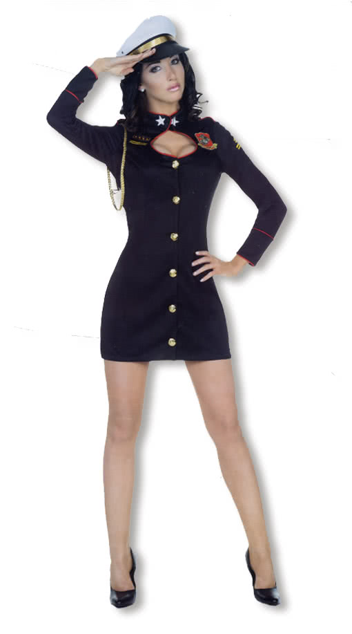 marine kapit nin kost m blaues matrosenkleid als damenkost m karneval universe. Black Bedroom Furniture Sets. Home Design Ideas
