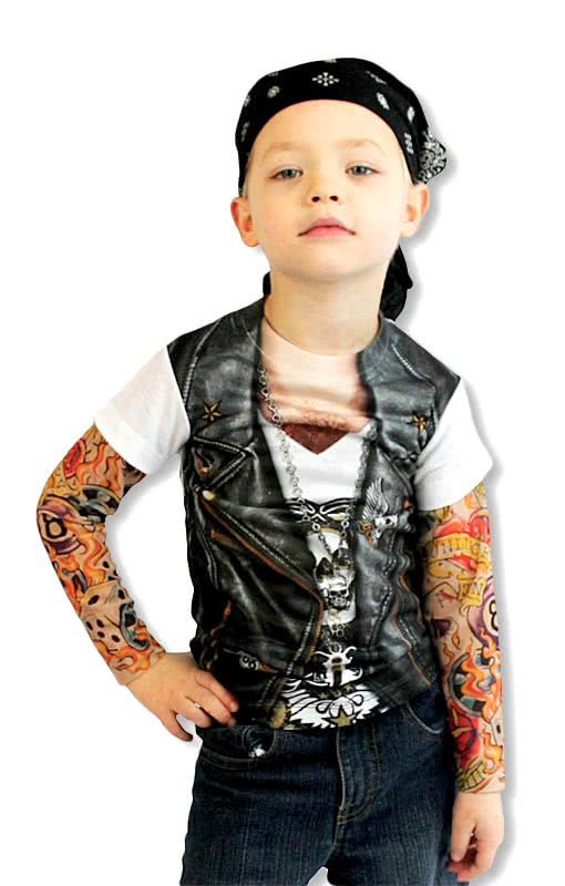 kinder tattoo shirt rockershirt tattoo rmelhemd. Black Bedroom Furniture Sets. Home Design Ideas